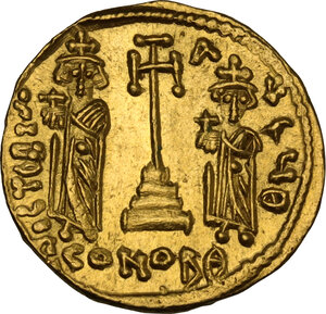 reverse: Constans II (641-668). AV Solidus, Constantinople mint, c. 661- 663 AD