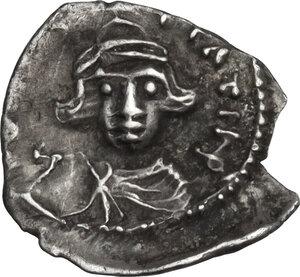 obverse: Constans II (641-668). AR Half Siliqua, Carthage mint, 641-647 AD