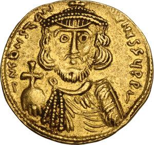 obverse: Constans II (641-668) . AV Solidus, Syracuse mint, c. 648-652 AD