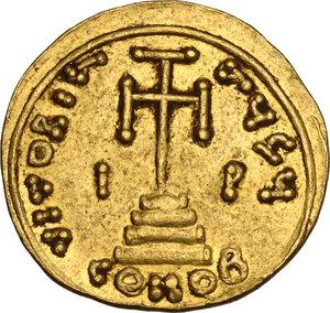 reverse: Constans II (641-668) . AV Solidus, Syracuse mint, c. 648-652 AD