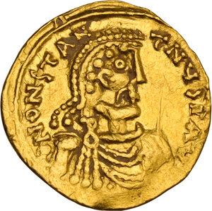 obverse: Constans II (641-668). AV Tremissis, Syracuse mint, 649-655 AD