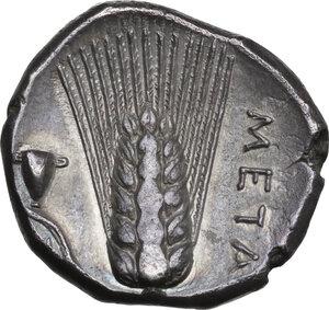 reverse: Southern Lucania, Metapontum. AR Nomos, c. 290-280 BC