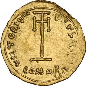 reverse: Constans II (641-668). AV Tremissis, Syracuse mint, 662-668 AD