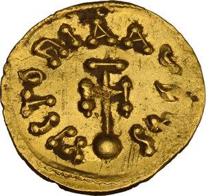 reverse: Constantine IV Pogonatus (668-685). AV Semissis, Constantinople mint