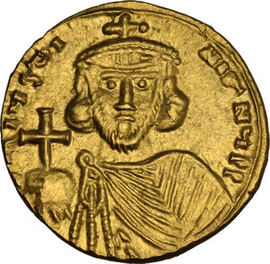 obverse: Justinian II (First Reign, 685-695). AV Solidus, Syracuse mint
