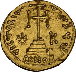reverse: Justinian II (First Reign, 685-695). AV Solidus, Syracuse mint