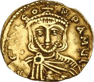 obverse: Leo III, the Isaurian (717-720). AV Tremissis, Syracuse mint