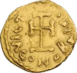 reverse: Leo III, the Isaurian (717-741). AV Tremissis, Naples mint