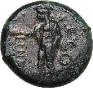 obverse: Southern Lucania, Metapontum. AE Obol, c. 440-430 BC