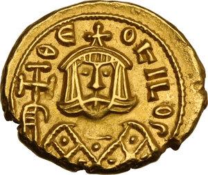 obverse: Theophilus (829-842). AV Solidus, Syracuse mint