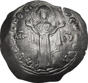 obverse: Alexius I, Comnenus (1081-1118). AR Miliaresion, Constantinople mint