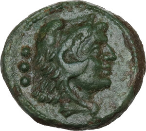 obverse: Southern Lucania, Copia. AE Quadrans, c. 193-150 BC