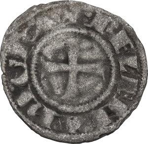 obverse: Karytaina. Helena Angelina Comnena (c. 1291-1300). BI Denier Tournois