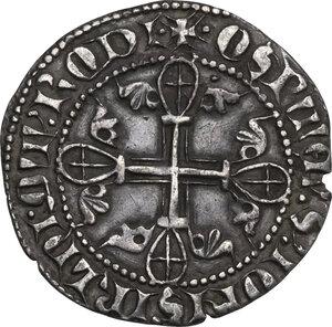 obverse: Rhodes. Order of St. John at Rhodes. Elion de Villeneue (1319-1346). AR Gigliato