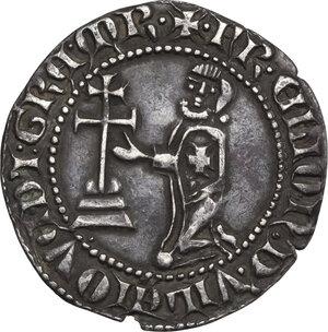 reverse: Rhodes. Order of St. John at Rhodes. Elion de Villeneue (1319-1346). AR Gigliato