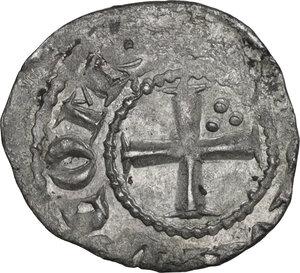 obverse: Tripoli. Bohemond V (1233-1251). BI Denier with six pointed star