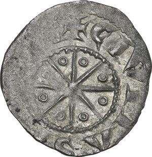 reverse: Tripoli. Bohemond V (1233-1251). BI Denier with six pointed star