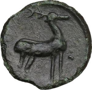 reverse: Bruttium, Kaulonia. AE 14.5 mm. c. 425-420 BC
