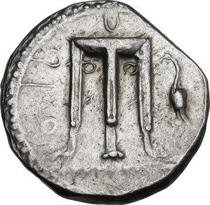obverse: Bruttium, Kroton. AR Nomos, c. 480-430 BC