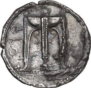 obverse: Bruttium, Kroton. AR Stater, c. 480-430 BC