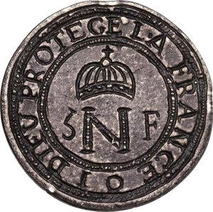 obverse: Cattaro. Assedio montenegrino-austro inglese (1813-1814). Napoleone I Imperatore dei Francesi e Re d Italia. 5 franchi 1813