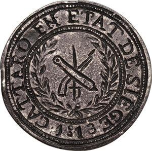 reverse: Cattaro. Assedio montenegrino-austro inglese (1813-1814). Napoleone I Imperatore dei Francesi e Re d Italia. 5 franchi 1813