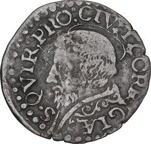 reverse: Correggio. Anonime dei conti Gerolamo, Gilberto, Camillo e Fabrizio (1569-1580). Sesino