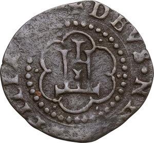 reverse: Crevacuore. Besso Ferrero Fieschi (1559-1584). Soldino 1577