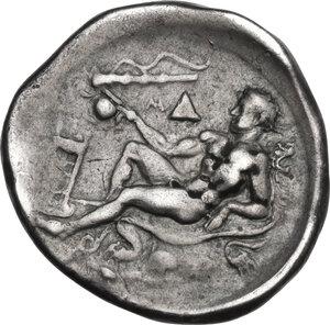 reverse: Bruttium, Kroton. AR Nomos, c. 400-325 BC