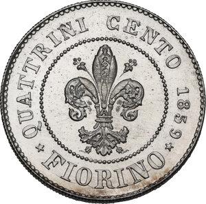 reverse: Firenze. Governo della Toscana (1859). Fiorino 1859