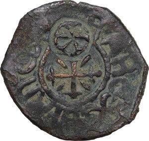 obverse: Gaeta. Tancredi (1189-1194). Follaro con contromarca