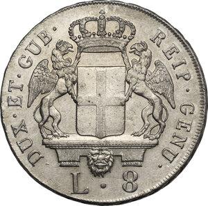 obverse: Genova. Dogi Biennali (1528-1797). Da 8 lire 1795