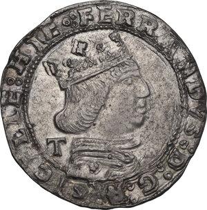 obverse: L Aquila. Ferdinando I d Aragona (1458-1494). Coronato