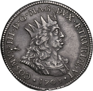 obverse: Livorno. Cosimo III de  Medici (1670-1723). Tollero 1703
