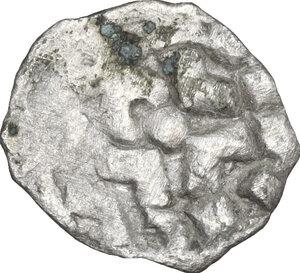reverse: Lucca. Enrico III, IV o V di Franconia (1039-1125). Obolo o frazione di Denaro