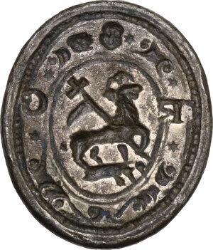 obverse: Malta. (?). Sigillo in argento con piccola impugnatura, XVII sec