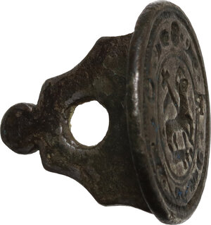 reverse: Malta. (?). Sigillo in argento con piccola impugnatura, XVII sec