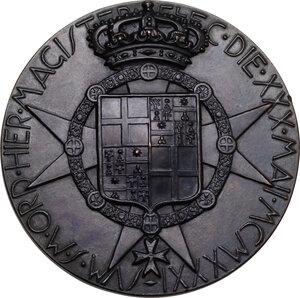 reverse: Malta SMOM. Ludovico Chigi Albani della Rovere (1866-1951), Gran Maestro del Sovrano militare ordine di Malta. Medaglia 1931