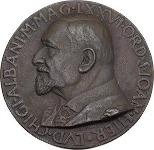 obverse: Malta SMOM. Ludovico Chigi Albani della Rovere (1866-1951), Gran Maestro del Sovrano militare ordine di Malta. Medaglia 1934
