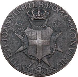 reverse: Malta SMOM. Ludovico Chigi Albani della Rovere (1866-1951), Gran Maestro del Sovrano militare ordine di Malta. Medaglia 1934