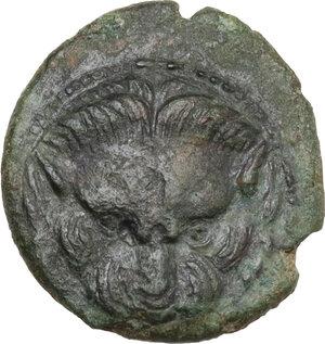 obverse: Bruttium, Rhegion. AE 15 mm. circa 351-280 BC