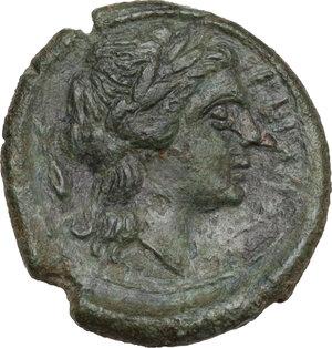 reverse: Bruttium, Rhegion. AE 15 mm. circa 351-280 BC
