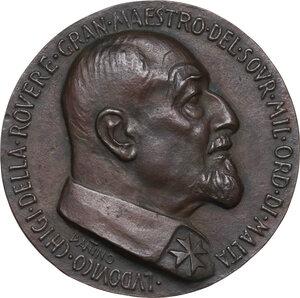obverse: Malta SMOM. Ludovico Chigi Albani della Rovere (1866-1951), Gran Maestro del Sovrano militare ordine di Malta. Medaglia 1949