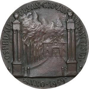 reverse: Malta SMOM. Ludovico Chigi Albani della Rovere (1866-1951), Gran Maestro del Sovrano militare ordine di Malta. Medaglia 1949