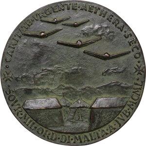 reverse: Malta SMOM. Ludovico Chigi Albani della Rovere (1866-1951), Gran Maestro del Sovrano militare ordine di Malta. Medaglia 1950
