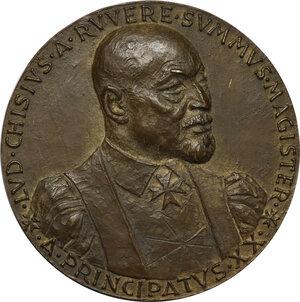obverse: Malta SMOM. Ludovico Chigi Albani della Rovere (1866-1951), Gran Maestro del Sovrano militare ordine di Malta. Medaglia, A. XX di Principato (1951)