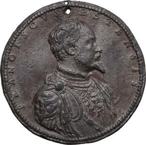 obverse: Massa Lombarda. Francesco d Este (1550-1578). Medaglia, ante 1544
