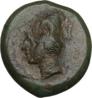 obverse: Bruttium, Scylletium. AE 21 mm, c. 350-325(?) BC