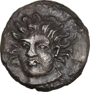 obverse: Abakainon. AR Litra, c. 410-400 BC