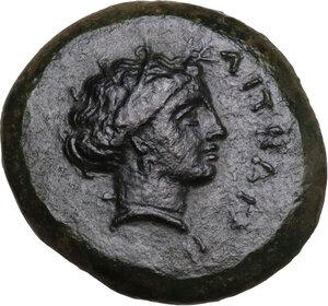 obverse: Aitna. AE 19.5 mm, c. 355-339 BC